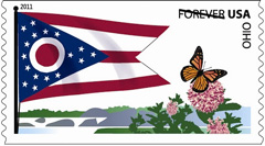 2011 Flags of our Nation Forever Stamp, Ohio
