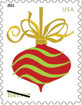 2011 Holiday Baubles Forever Stamp