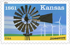 2011 Kansas Statehood Forever Stamp