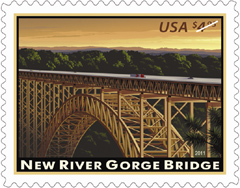 2011 New River Gorge Bridge Stamp