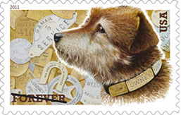 2011 Owney the Postal Dog Forever Stamp