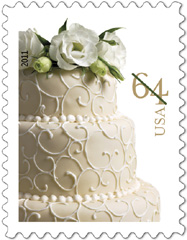 2011 Wedding Cake Stamp