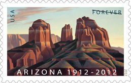 Arizona Statehood Stamp 2012