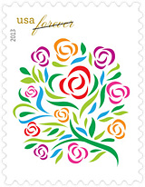 Where Dreams Blossom Wedding Stamp, 2013