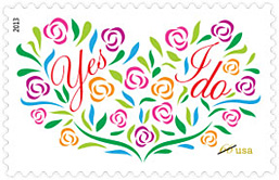 Yes I Do Wedding Stamp 2013