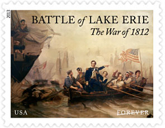 The Ware of 1812: Battle of Lake Erie Stamp, 2013