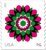 Kaleidoscope Flowers stamp 2013