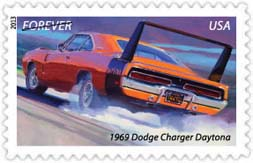 1969 Doge Charger Daytona Stamp, 2013