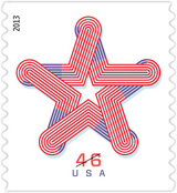 Patriotic Star Stamp, 2013