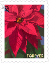 Poinsettia Christmas Stamp 2013