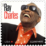 Ray Charles Forever Stamp, 2013