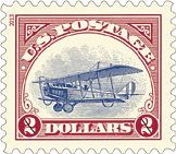 Un-Inverted Jenny Stamp, 2013