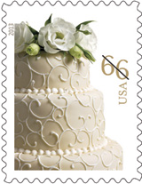 66 cent Wedding Cake Stamp, 2013
