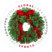 Global Wreath Stamp, 2013