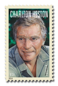 USPS Charlton Heston Stamp 2014