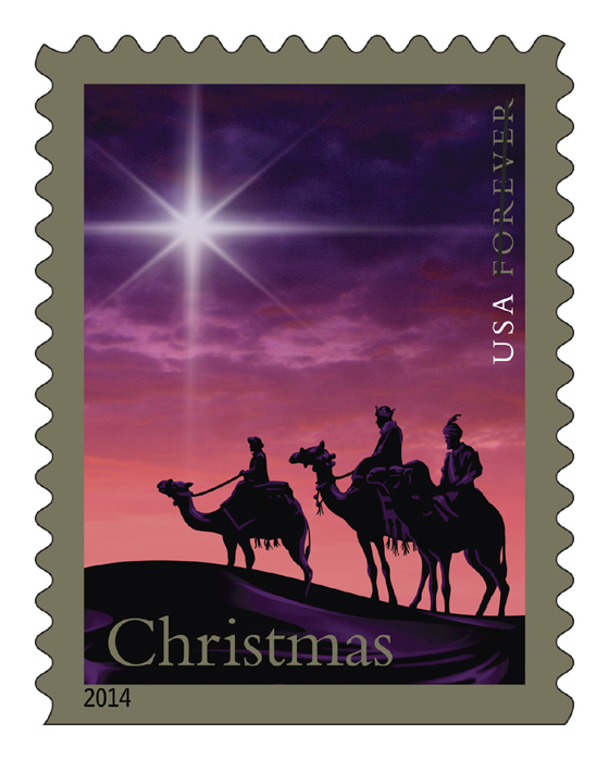 Christmas stamps from post office