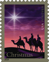 USPS Christmas Magi Traditional Christmas Forever Stamp, 2014
