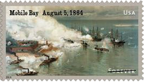 USPS 2014 Civil War Stamp Mobile Bay August 5, 1864