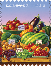 USPS Farmers Markets Stamp, 2014