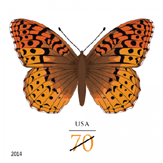 Great Spangled Fritillary Butterfly stamp