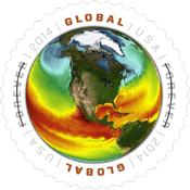 Global Ocean Surface Temperatures Stamp, US 2014