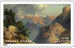 USPS 2014 Hudson River School Stamps - Thomas Moran