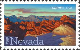 USPS Nevada Statehood Forever Stamp, 2014