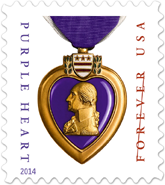 USPS 2014 Purple Heart Stamp
