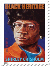 Black Heritage, Shirley Chisholm Forever Stamp, 2014