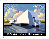 USS Arizona Memorial Stamp, 2014
