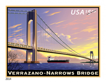 Verrazano-Narrows Bridge Stamp, 2014