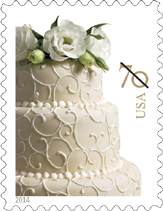 Wedding Cake Stamp, 2014 - Weddign Stamp
