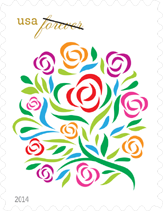 USPS Where Dreams Blossom Forever Stamp, 2014