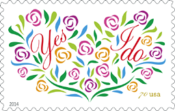 USPS Yes I Do Stamp 2014, Wedding Stamp, Love Stamp