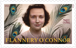 Flannery O'Connor Stamp Three Ounce Rate Stamp
