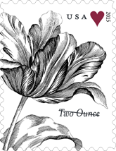 Vintage Tulip Stamp, First Class two ounce rate stamp, USPS 2015