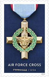 USPS 2016, Air Force Cross Medal Stamp