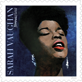 Sarah Vaughan, Music Icon Forever Stamp, USPS 2016