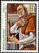 Guinea-Bissau issued the stamp which focuses on St. Augustines expression.