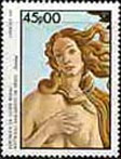 Guinea-Bissau featured the Goddess of Venus in a postage stamp issued in 1985