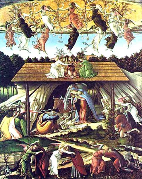 Mystical Nativity by Sandro Botticelli