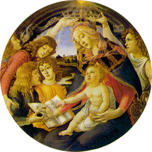 Madonna of the Magnifcat by Sandro Botticelli
