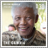 Nelson Mandela Stamp, The Gambia
