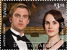 IGPC Inter-Governmental Philatelic Corp. - Downton Abbey Stamps 2014 Matthew Crawley and Lady Mary Crawley
