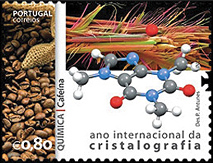 Portugal Crystallography Stamp 2014
