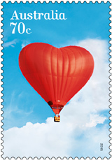 Australia Love Balloon Stamp 2015