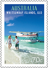 Australia Seaplane, Whitsunday Islands, Queensland Tourist Transport Stamp Issue 2015