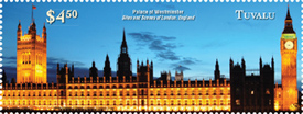Big Ben and The Palace of Westminister London - London Stamp Expo
