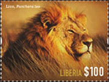 Wild Cats of Africa Stamps - Liberia 2014