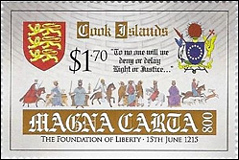 Magana Carta Anniversary Stamps for Cook, Tonga and Samoa Islands